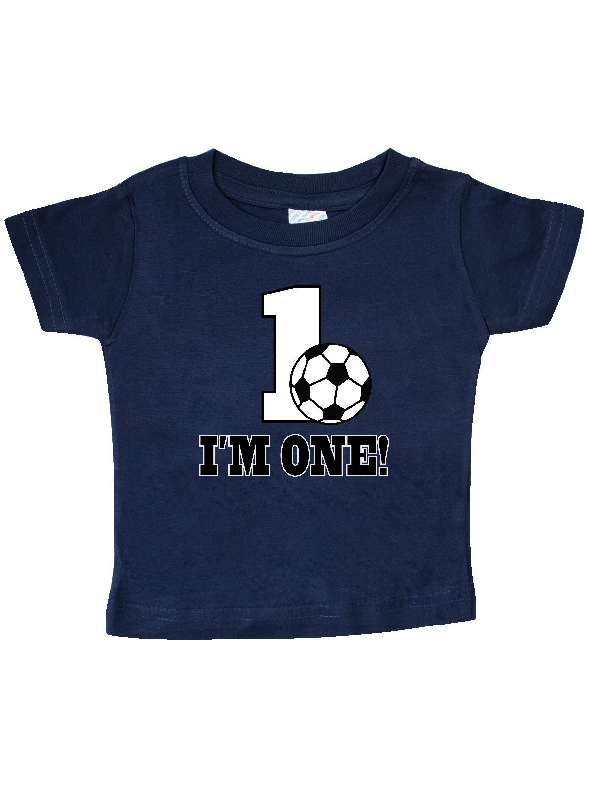 First Birthday Soccer 1 Year Old Baby T Shirt