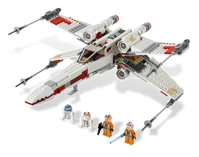 Lego Star Wars X-Wing Starfighter Spaceship with 4 Minifigures | 9493 by Lego
