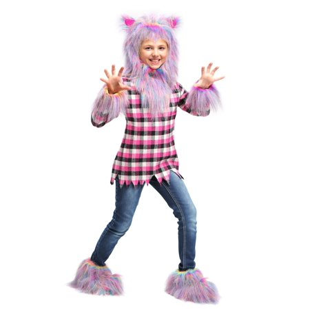 Girl's Fierce Rainbow Werewolf Costume