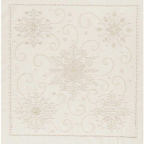 "Janlynn Snowflakes Candlewicking Embroidery Kit, 14"" x 14"""