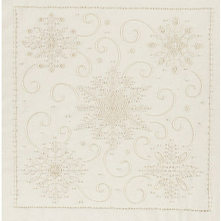 Janlynn Snowflakes Candlewicking Embroidery Kit, 14