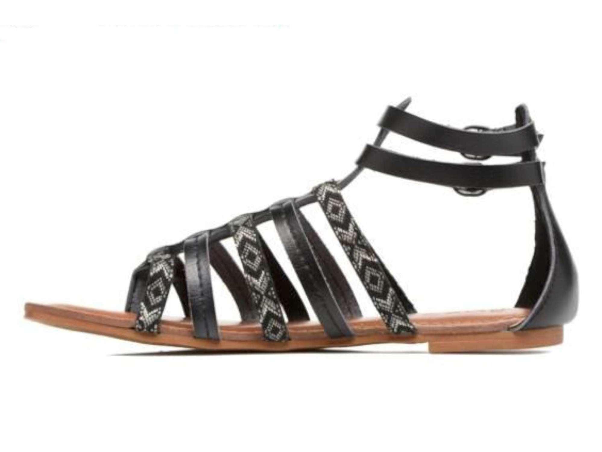 Sandales Emilie Gladiator, Roxy Noir