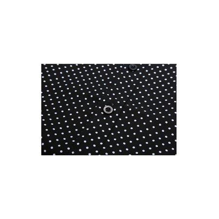 Men Short Sleeves Button Up Cotton Polka Dots Shirt Black S - image 6 de 7