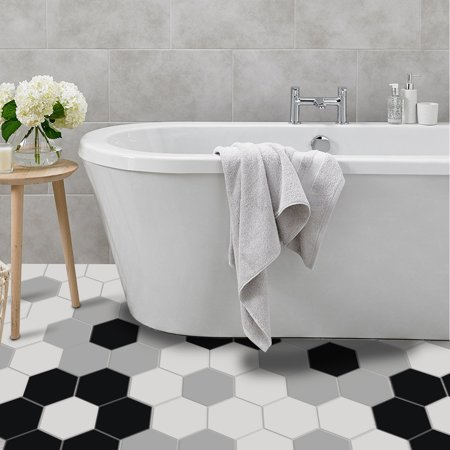 10 Pcs Set Self Adhesive Floor Sticker For Bathroom Kitchen Backsplash Tiles Wall Diy Home Decal Removable Decor Walmart Canada