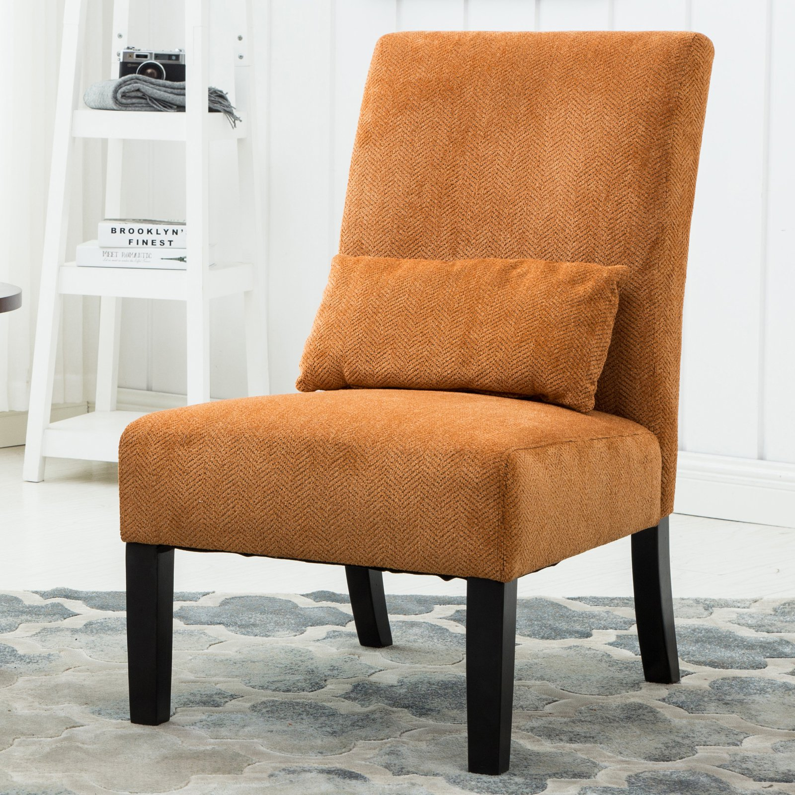 UPC 612524918947 Product Image For Roundhill Furniture Pisano Chenille  Fabric Slipper Chair | Upcitemdb.com ...