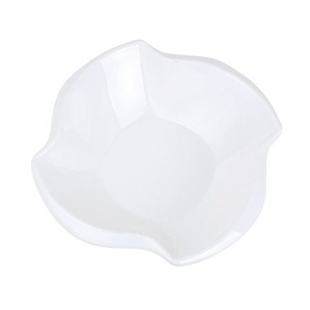 Unique Bargains Kitchen Melamine Whirl Angle Shaped Snack Salad Food Soup Dishes Bowl White