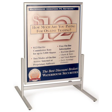 30 x 40 Pavement Sign for Sidewalks, with Snap Open Frames, Double Sided, Aluminum (Silver) (SFAM3040) (Sidewalk Wind Sign)