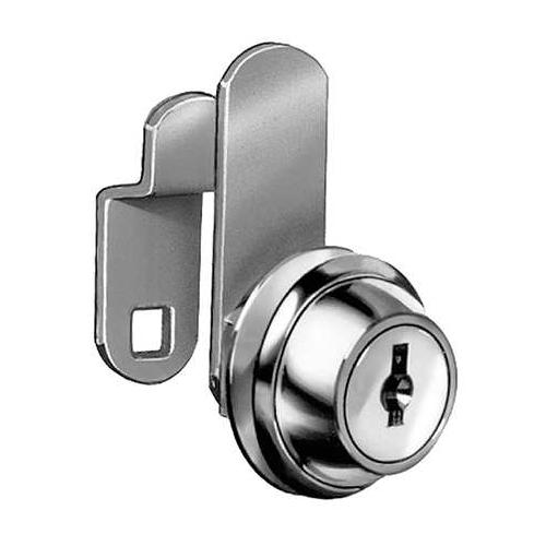 COMPX NATIONAL C8051-MKKD-14A Disc Cam Lock,Nickel,Master Keyed