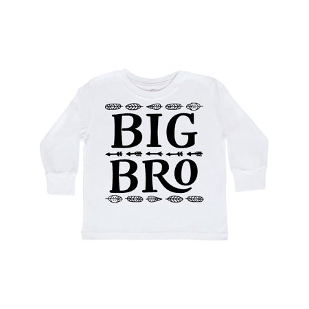 Big Bro Native Arrows Brother Gift Toddler Long Sleeve T-Shirt - Native Bow And Arrow