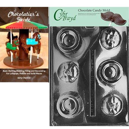 Citrouilles Pour Halloween (Cybrtrayd Pumpkin Pour Box Halloween Chocolate Candy Mold with Our Chocolatier's Guide Instructions)
