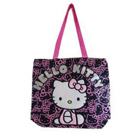 Hello Kitty - Tote Bag - Hello Kitty - Black Face Pattern New Gifts Girls  Hand Purse 81414 - Walmart.com 28b30d6cb099c