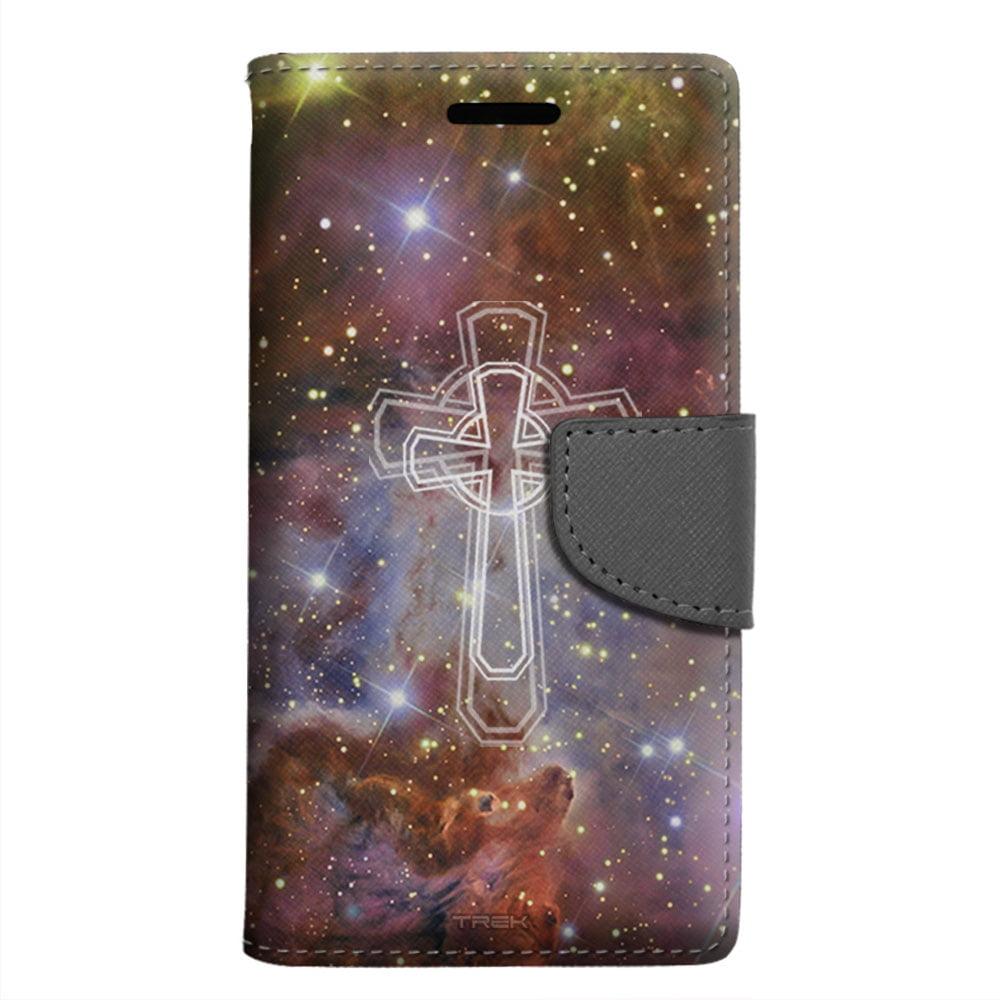 ZTE Grand X 3 Wallet Case - Celtic Cross on Nebula Brown Case