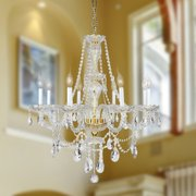 Worldwide Lighting Olde World 8-Light Crystal Chandelier