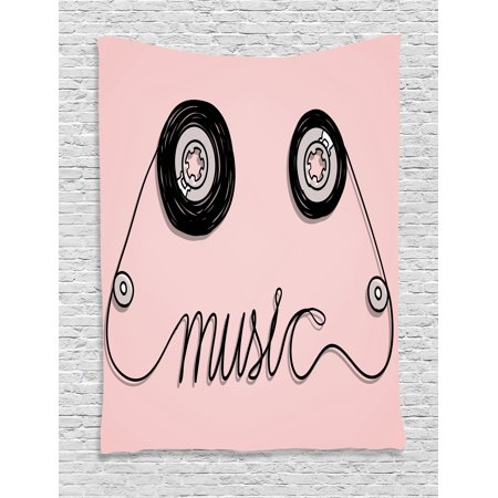 Wall Hanging Tapestry, Music Letters Written by Cassette Tape ...