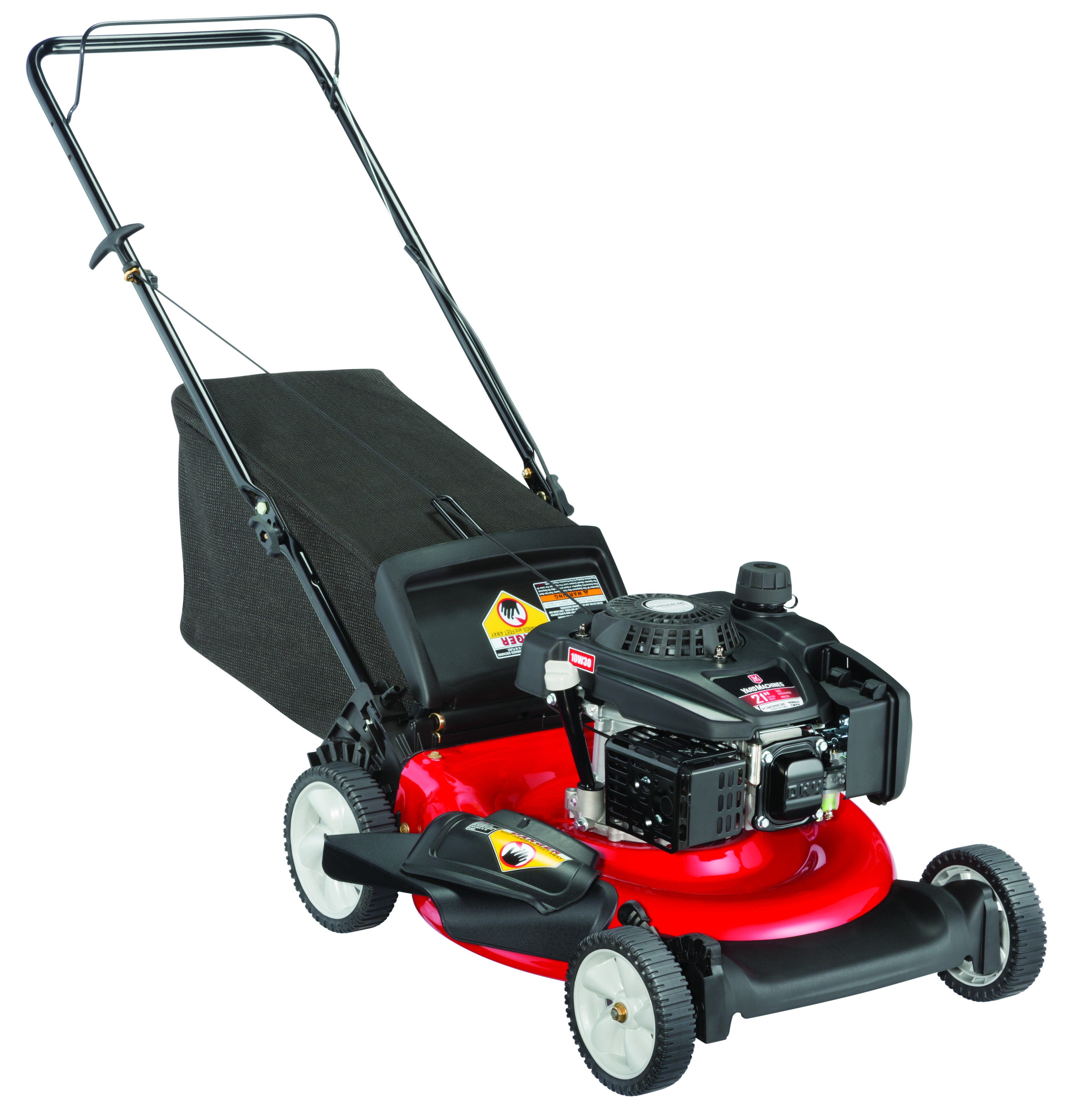 "Yard Machines 21"" Gas Push Mower with Side Discharge, Mulching and Rear Bag"