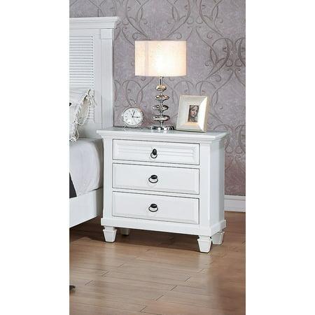 - ACME Furniture Merivale Nightstand, White