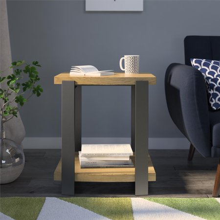 Ameriwood Home Garon End Table, Golden Oak