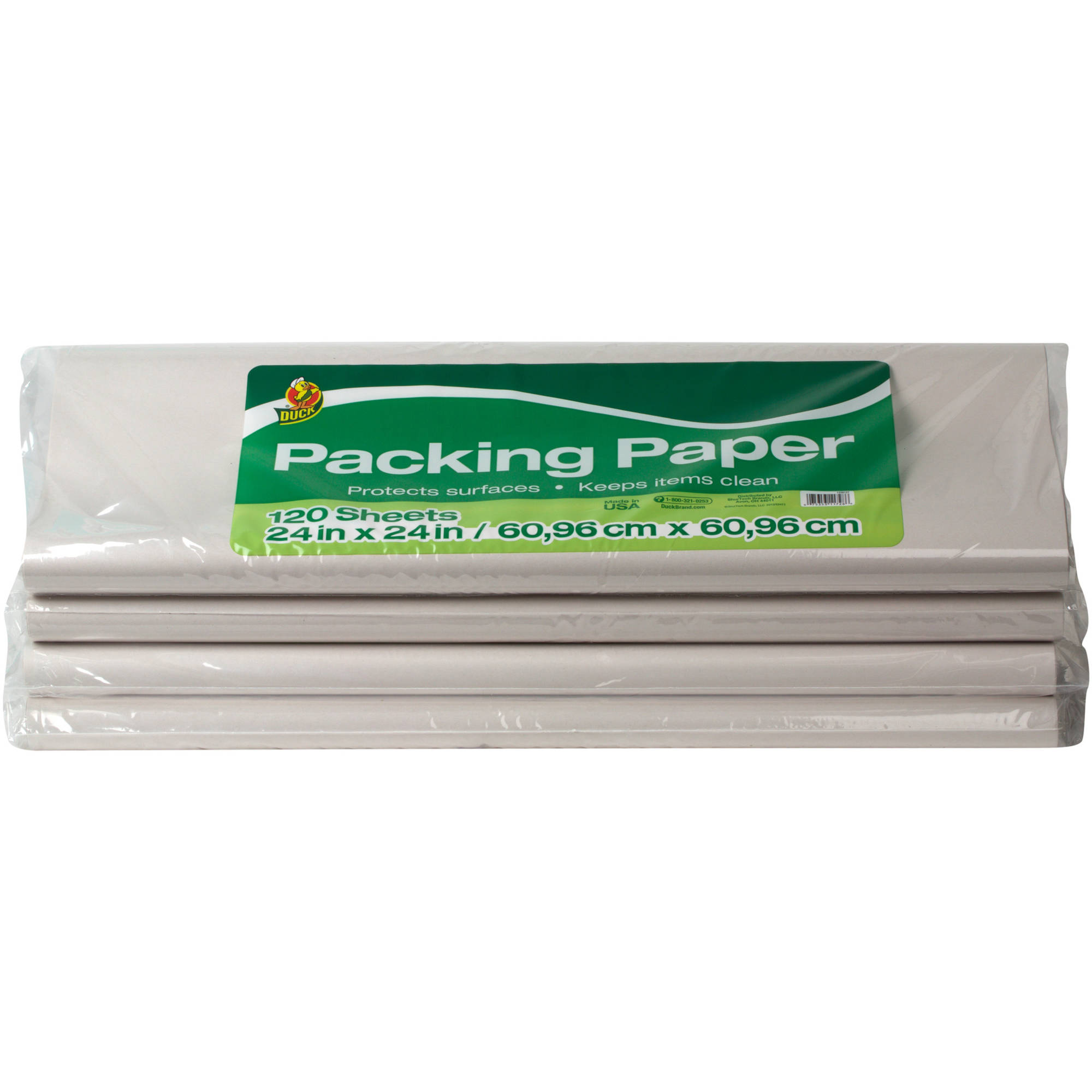 """Duck Brand Packing Paper, White, 480 Sheets, 24"""" x 24"""""""