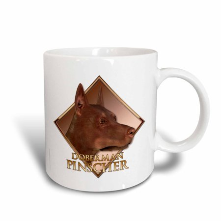 3dRose Doberman Pinscher, Ceramic Mug, 15-ounce