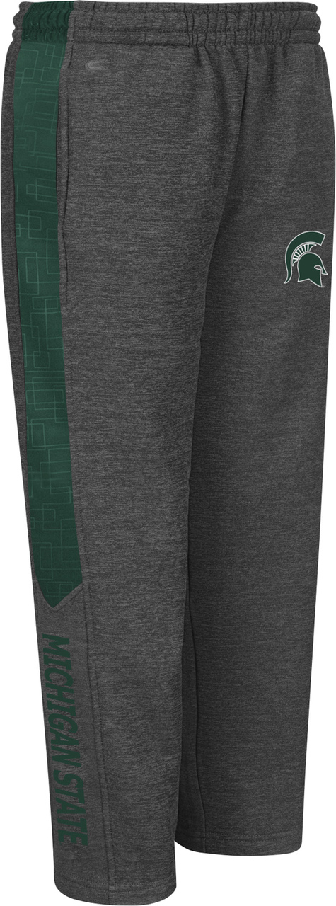 Michigan State Spartans Youth Top Gun Fleece Pants Charcoal by Colosseum