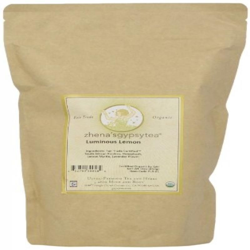Zhena's Gypsy Tea Luminous Lemon Organic Loose Tea, 16-Ounce Bag