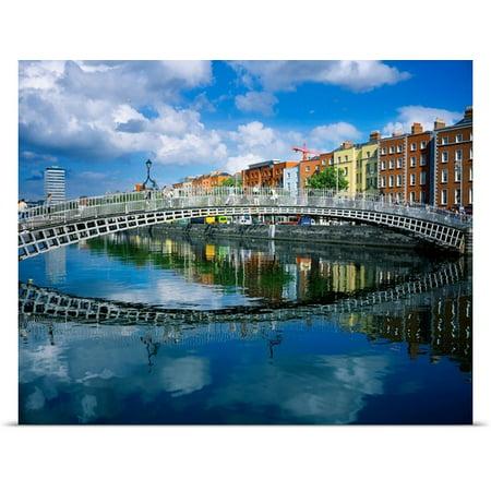 Great Big Canvas The Irish Image Collection Poster Print Entitled Hapenny Bridge  River Liffey  Dublin  Ireland