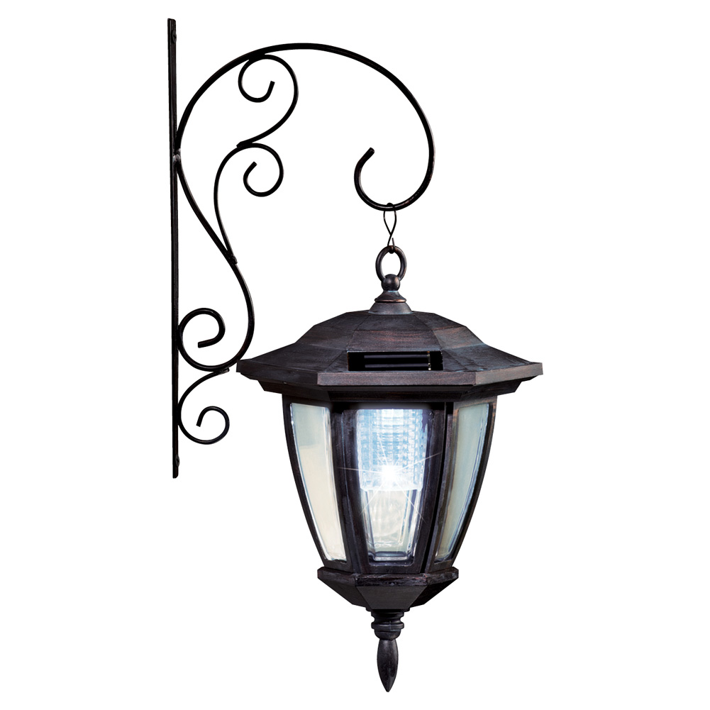 Traditional Porch Light Lantern Solar Wall Light by Collections Etc