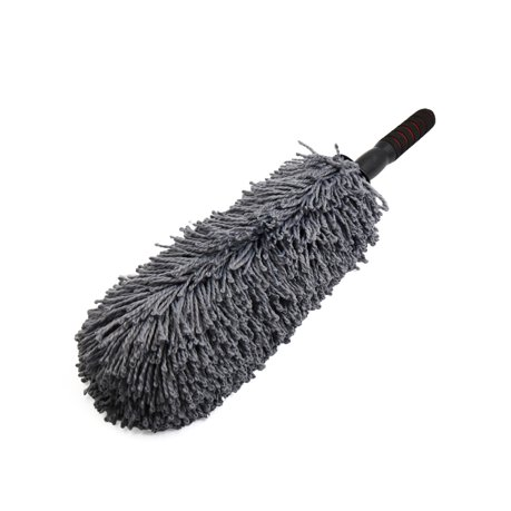 car foam telescopic handle gray microfiber duster dust wax mop cleaning tool. Black Bedroom Furniture Sets. Home Design Ideas