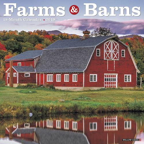 Willow Creek Press 2019 Farms & Barns Wall Calendar