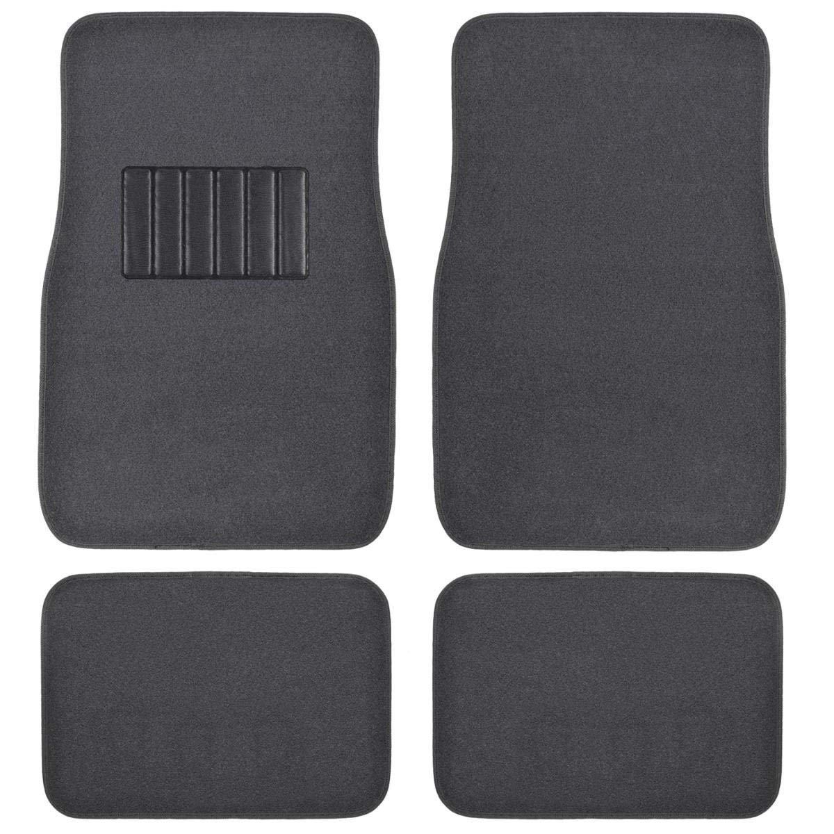 Front & Rear Carpet Car Truck SUV Floor Mats - Dark Grey