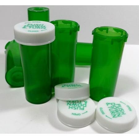 20 Dram Green Medicine Vial 25 Pack