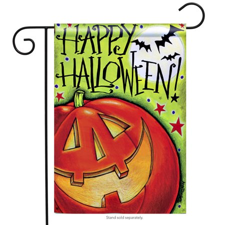 Great Big Pumpkin Happy Halloween Decorative Garden Flag