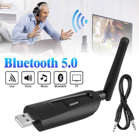 EEEkit Bluetooth Transmitter for TV PC, (3.5mm, Computer USB Digital Audio),Wireless Bluetooth 5.0 Audio Adapter with Antenna for Headphones,USB Power Supply,Supports APT-X LL
