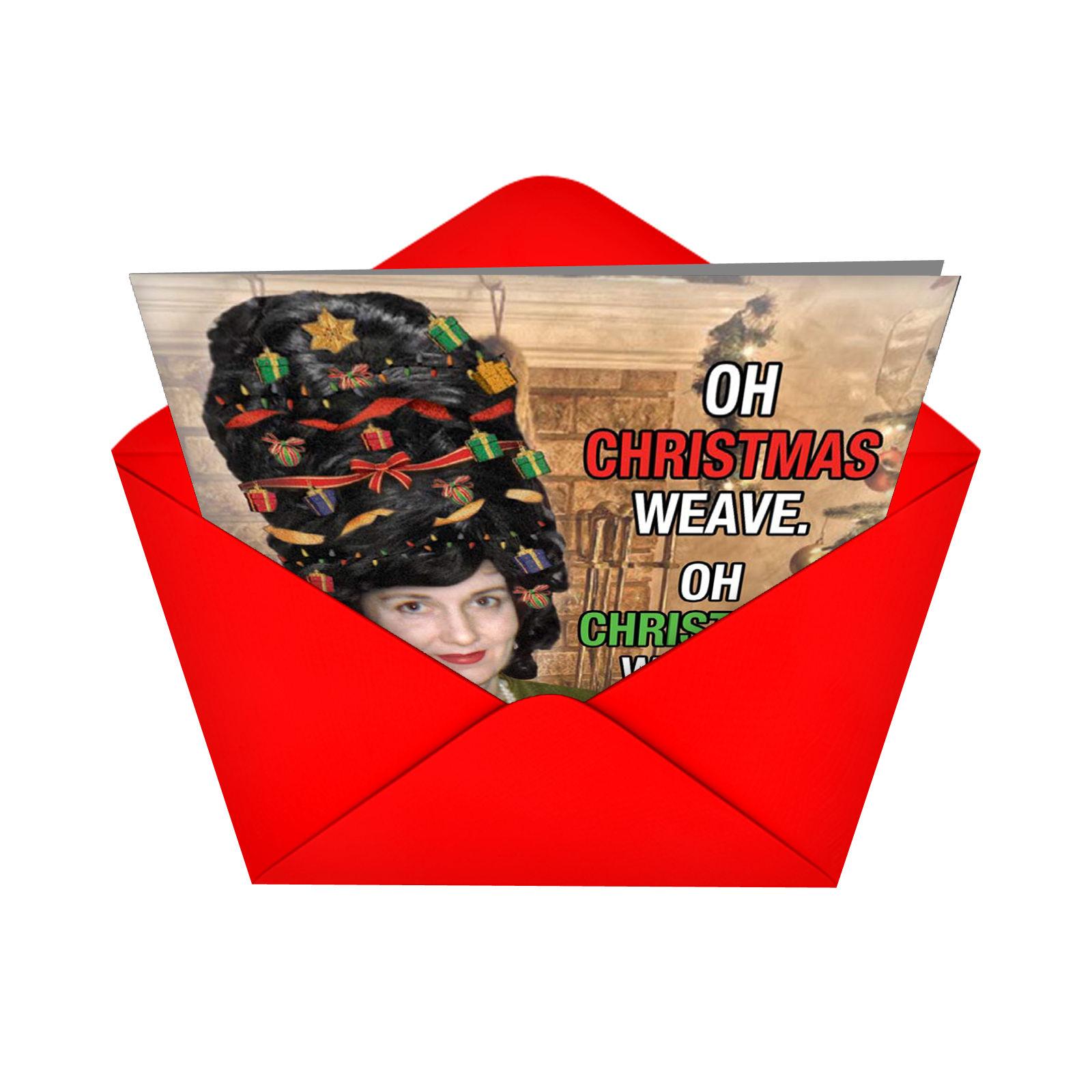 B1907 Weave\' Box Set of 12 Humorous Merry Christmas Greeting Cards ...