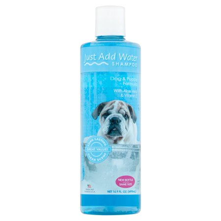 Just add water dog and puppy shampoo formula, 16.9-oz