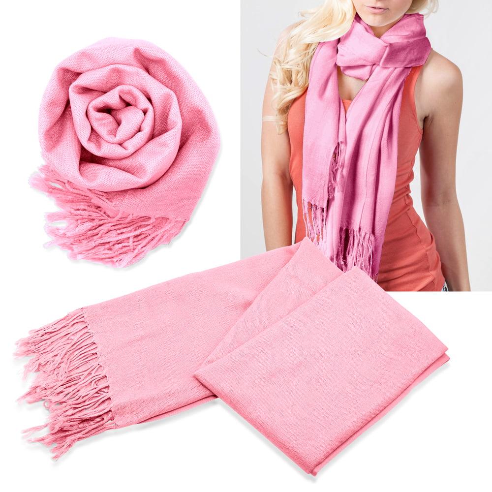 fashion luxury s classic range pashmina silk solid colors scarf wraps shawl