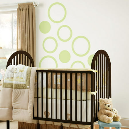 WallPops - Concentric Dots 4-Piece Set, Pea Pod