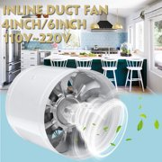 """110V 4"""" 6"""" Duct Booster Inline Blower Fan Exhaust Ducting Air Cooling Vent Air Fresh Home Kitchen"""