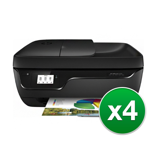 HP OfficeJet 3830 AllinOne Printer (4-Pack) OfficeJet 3830 All-in-One Printer by HP