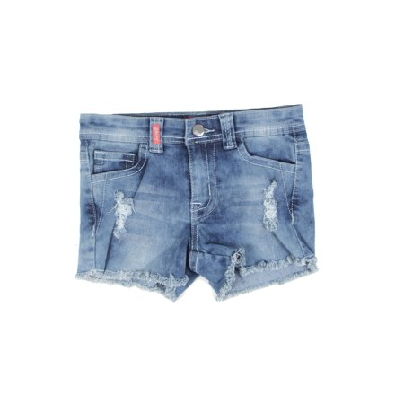 Girls Stretch 5 Pockets Ripped Premium Shorts (Skorts Girls)