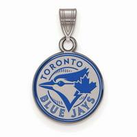 Toronto Blue Jays Women's Silver Enamel Pendant