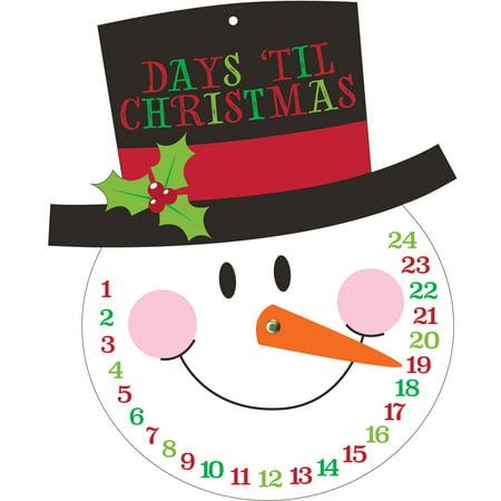 Snowman Christmas Countdown Cutout, 1 (Live's Halloween Countdown)