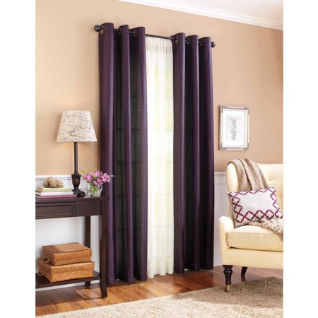 Better homes and gardens solid faux silk window curtains Better homes and gardens valances for small windows