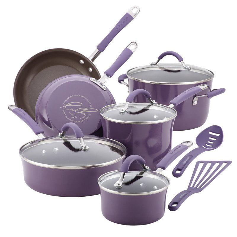 Rachael Ray Cucina 12 Piece Cookware Set in Lavender Purple