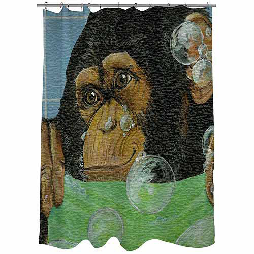 "Thumbprintz Bubbles James Shower Curtain, 71"" x 74"""