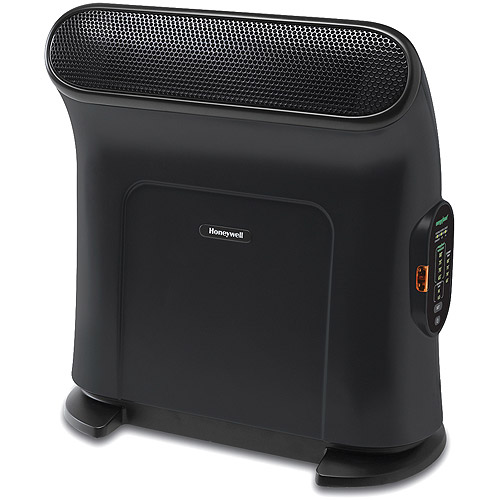 Honeywell Small Ceramic Heater with Tip-Over Protection, Black