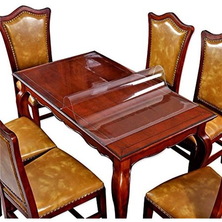 Clear Plastic Thlecloth Coffee Dining End Thle Protector Cover Countertop Wood Marble Furniture Topper Thletop Protection