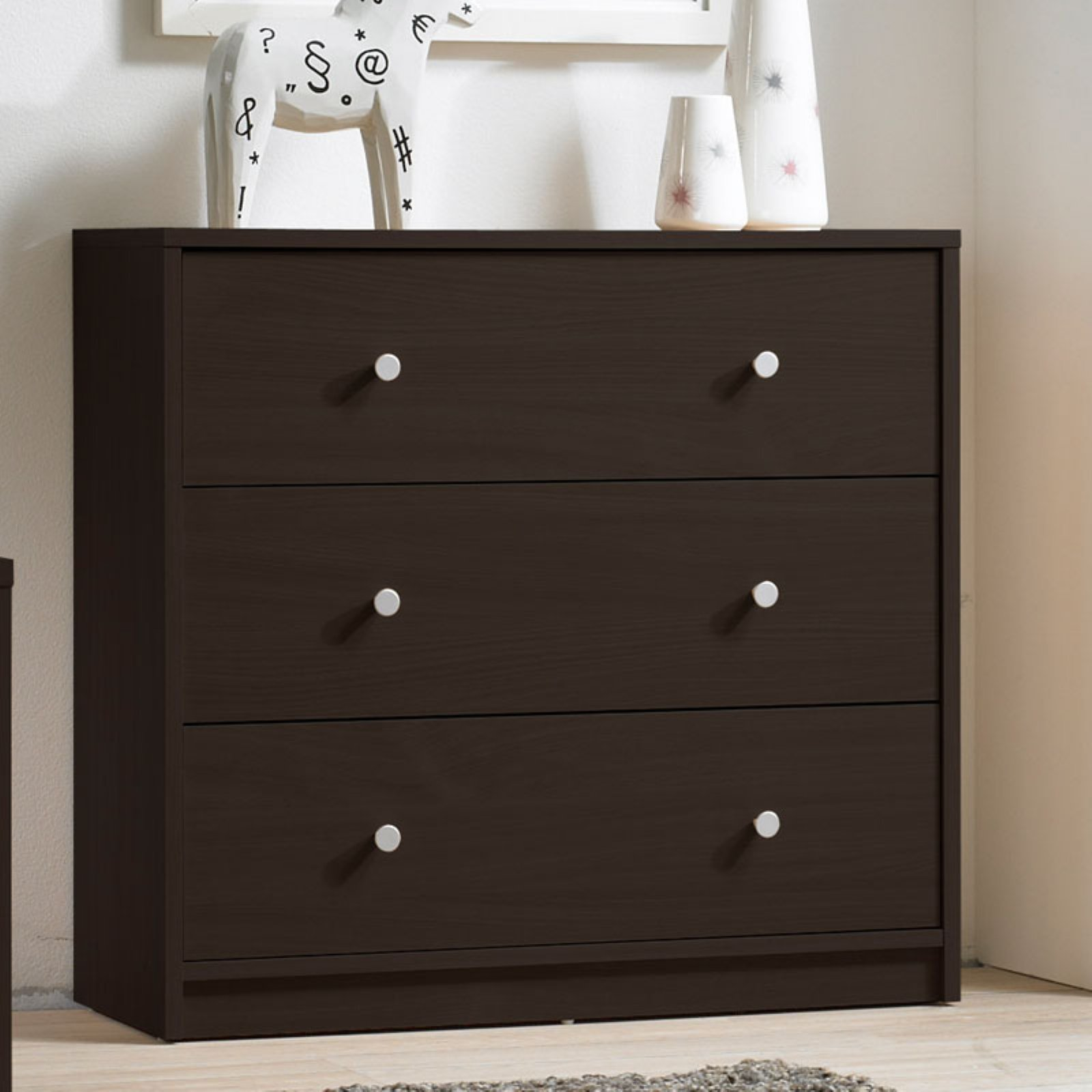 Tvilum Studio Collection 3-Drawer Dresser, Multiple Colors