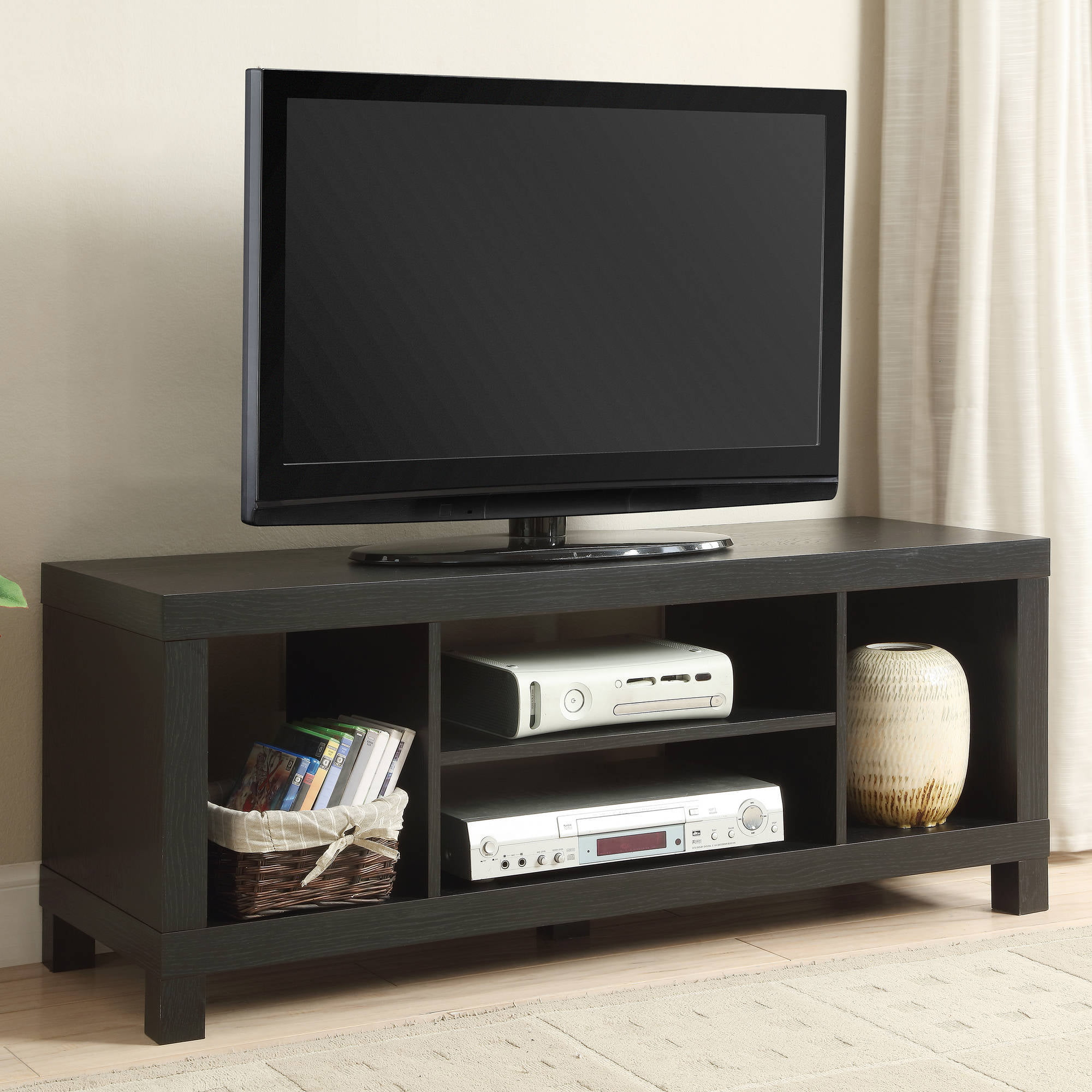 black oak tv stand for tvs up to   walmartcom -