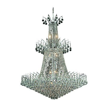 8031 Victoria Collection Chandelier D:32in H:43in Lt:18 Chrome Finish (Swarovski Elements Crystals)